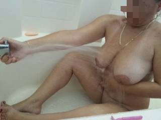 My sexy wife in the tub!