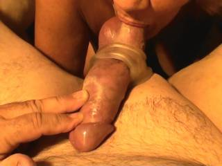 Never had mine bound, but do love a good hard suck! Check out my nut suck video..
