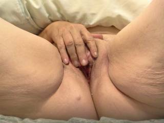 Mouthwatering!!  Luv to swap your fingers for my thick cock to massage your wet swollen pussy!!!