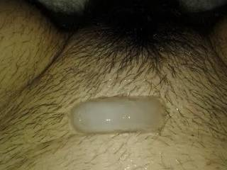 sooo hot. but wish that were a puddle of cum, which could drip down to your perfect hairy box for me to lick up for you.