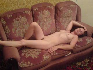 My sexy woman lying naked & ready for action