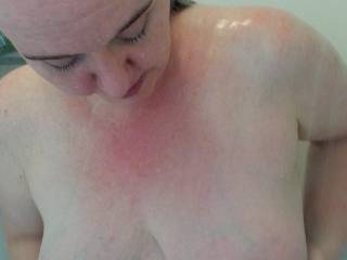 Do you like the way my heavy milk filled tits look?