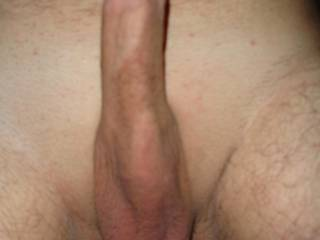 mmmm very tasty looking cock and balls! would be a delight to share licking and sucking that with your Mrs mmm yum