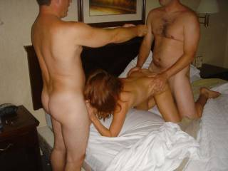 these guys met me an hubby at a hotel. I had 3 dicks all night long