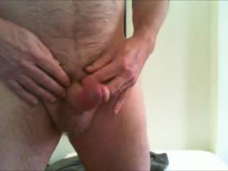 My first attempt at a solo hands free cumshot.
