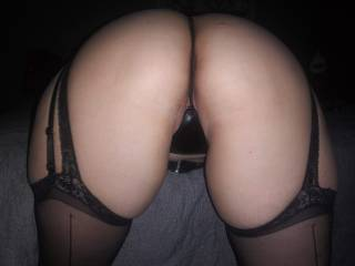 rear view from some lingerie my guy got for me