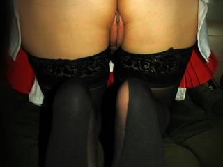 Bent over in my little nurse outfit, my stockings are on but my panties have fallen off, what would you like to do now?