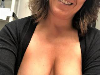 Just another pic of Melissa going to the restroom at her office and taking a pic....then sending it to me just to torment me!