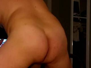 Hubby fucking his fleshlight,  little slow motion and really get to see the cum shot.  Fuck I love seeing that ass in motion