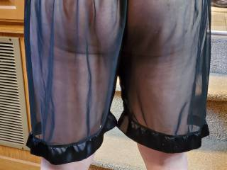 New see through shorts. Would you like to see me answer the door for you in these