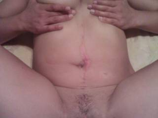 love those big dark nipples girl.. very hot!