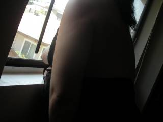 I talked her into another window session, and before too long, I think she got more into it than she\'ll ever admit. I love to watch her rub one out with her tits on display for anyone to see! TRIBUTES to this or any other pic in our profile please!
