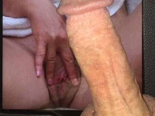 Your sweet pussy has me very hard.