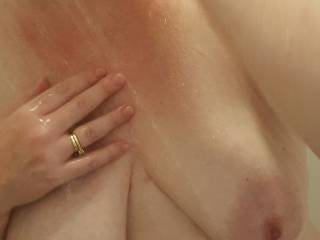 Would you like to caress my soft warm milk filled tits?