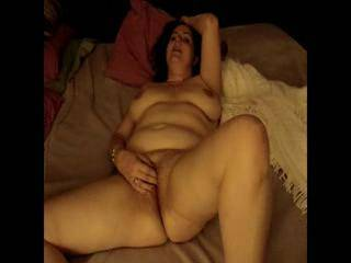 Mary masturbates and pulls her hot pink pussy open