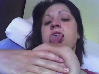My wife licks her nipples for me. It looks so fucking hot.