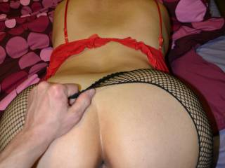 doggy style fucking in fishnets