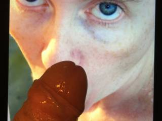 Don't you think my cock looks great on her