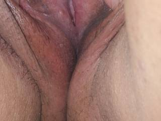 Wife showing off how wet her pussy is after teasing herself all afternoon