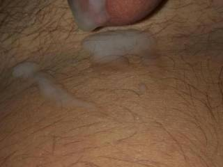 Fwb shot a massive load while watching me and a female  friend go at it
