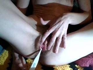 Being a good little slut. My perverted, old neighbor wanted me to send him a video of me sounding for the first time.
