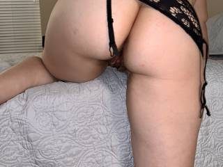 I love to be licked and fucked in this position. It gives hubby easy access to eat my wet, pink pussy and to finger and tongue fuck my tight asshole. .