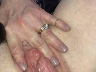 swollen clit getting ready for som big cock action
