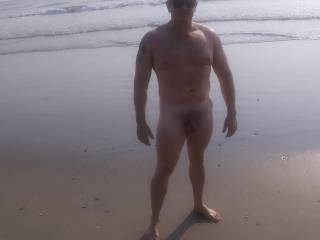 Hubby tanning his nice cock on the beach