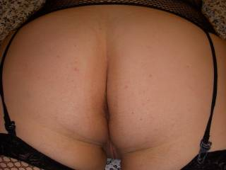 Jen\'s sweet sweet ass. She loves a good spanking. Do you want to give her one?
