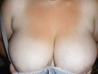 Her big dd titties I like to watch swing while fucking from back or anal :)