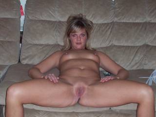 It be a dream cum true to try and wear out you on that couch. I just love blondes with no panties on!