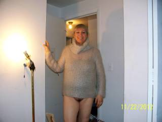 you are one hot girl, nice sweater also!!!!!!