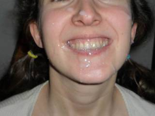Wow, nice cum filled smile. Can I give you some more to smile about