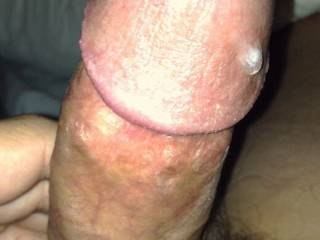 Dropped my pants and masturbated simple really.... But having that drip of cum on my cock makes it filthy don't u think??