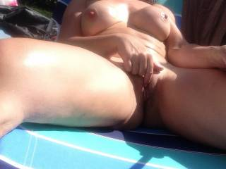 If I was there I would be between your legs with my tongue buried deep in your pussy licking and sucking your clit with the warm sun over us until you orgam so hard in my mouth! Outdoor orgasms are the best! xx