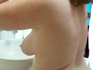She\'s getting pretty for me... I\'d love to share her with another guy. .. any takers?