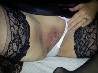 wife flashing her pussy