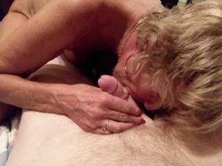 Getting my cock & balls sucked