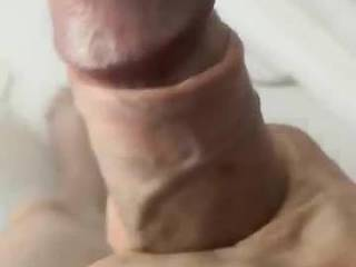 Wanking while wishing I was being fucked and being made to cum with that big dick penetrating me