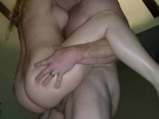 Hubby picking me up..using me like a pogo stick...i love being manhandled