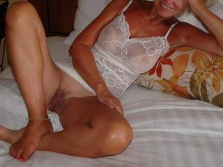 Pedicure, ankle bracelet, see through lingerie, trimmed hair on your pussy............lets play .  Basil
