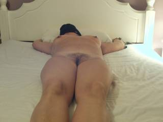 This lady wanted to be tied and blindfolded. The video of me fucking her ass may be online soon.....