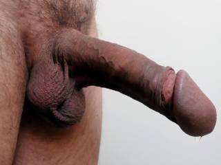 Beauty cock, with a set of balls I just wanna suck like crazy!  And is that a drop of pre-cum at the tip of your cock?  I'd lick that off nice and naughty like!