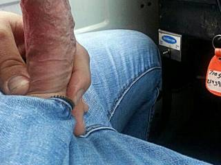 Something about a nice cock sticking out of jeans that just drives me WILD!!!