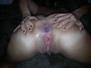 She has given you all she's got in bed and she hasn't been disappointed. She knows she can't live with out your horny cock inside her asshole, and she will always come back to you so you could own it and use it in any way you want to.   Her hot gaped holes surely look beautifully flabbergasted and dominated. She really loves you.