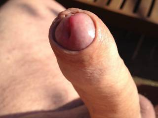 Being 'cut', I find the emergence of an uncut cock like this just sooooo fucking erotic!  I'd have to just go down on it and lick it until it had fully emerged, then suck you to completion.