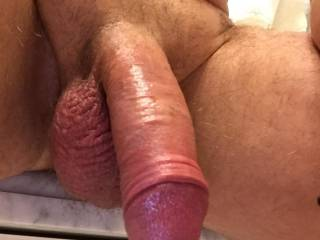 Cock waiting to be sucked. Anyone care to oblige?