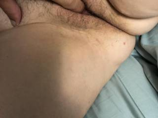 She asked me to feel how wet before I push my cock in.