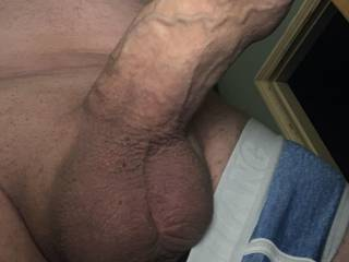 Horny and getting hard all shaved smooth anyone want to feel