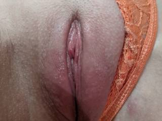 Her large wet clit after being licked to orgasm.